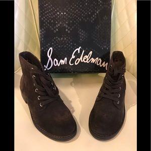 NEW Sam Edelman Espresso ankle boots